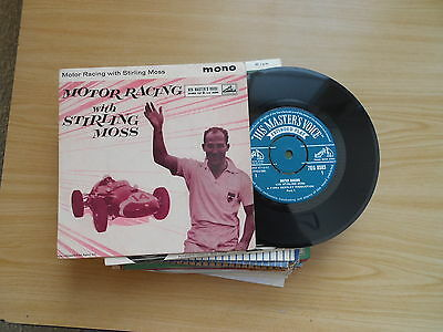 Motor Racing With Stirling Moss  E.p.  P/c  Ex+