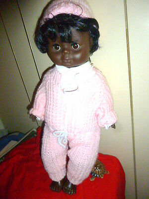 Vintage Black / Ethnic Toddler Baby Doll  approx 20 Inch tall, dressed
