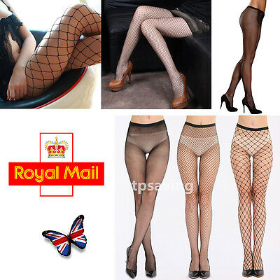 Women Ladies Fishnet Net Pattern Burlesque Hoise Pantyhose One Size Black Tights