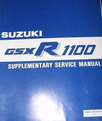 Suzuki  Gsx-R1100J  Supplementary Service Manual 1988 (Contents Listed)