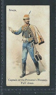Bat British American Tob Soldiers Of The World Leaf Back Spain Captain Hussars