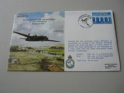 Flown Cover -1984 - 31th Anniversary of the last flight of the Wellington (1745)