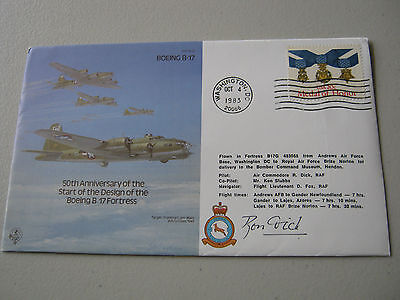 Pilot SIGNED Cover -1983 - 50th Anniversary of the Boeing B17 Fortress (1745)