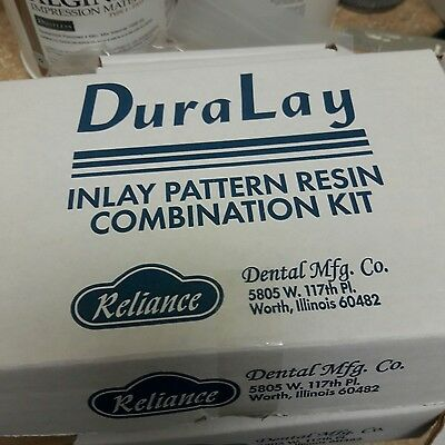 Dental Resin INLAY KIT Powder & Liquid 1 Onz DURALAY RELIANCE