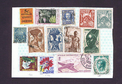 France colonies and ex colonies & Monaco MH and used stamps on page
