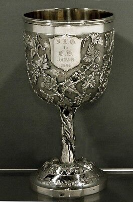 Chinese Export Silver Goblet       1860                                MAKER  TH