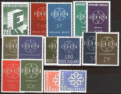 Cept Europa 1959 ** annata completa MNH year beautiful and complete collection