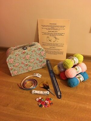 New Beginner Knitting Kit Pastel Or Bright Wool Ideal Gift 12 Box Style Availble