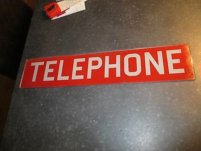 """Antique Glass Telephone Sign booth payphone insert glass advertising sign 22"""""""