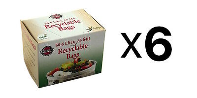 """Norpro Replacement COMPOST BAGS 50 Pack Recyclable Garbage 14"""" x 14"""" (6-Pack)"""