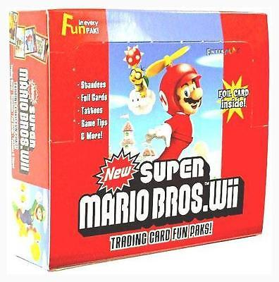 Super Mario Bros Wii Trading Cards! Factory Sealed Box of 24 Packs!
