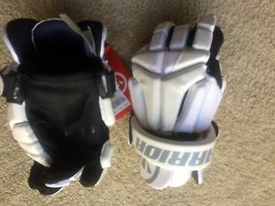 Warrior Burn Lacrosse Gloves  Size M New Tag of $79.99  No Laces