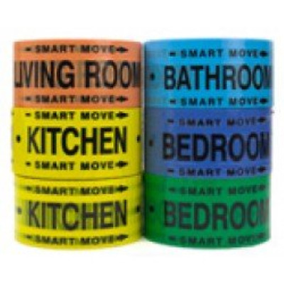 Moving Supplies - 2 Room Labeling Tape--tape for Your Bedroom, Living Room, and