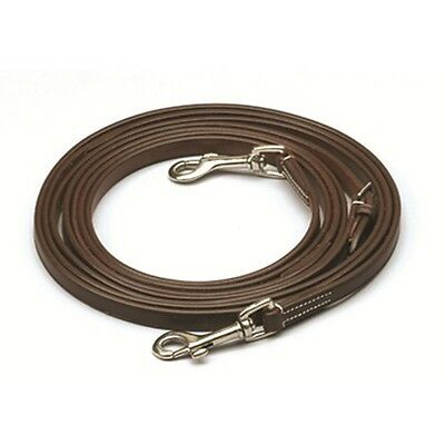 Ovation Snap End Leather Draw Reins - Brown - Horse - #5100