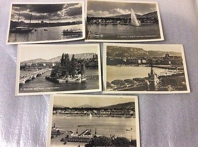 Switzerland. 5 old postcards.  Please see photos for description