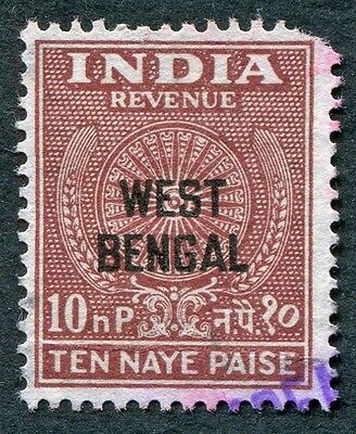 INDIA West Bengal 10np Revenue #W14