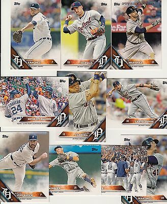 Topps 2016 Complete Set DETROIT TIGERS-19 Cards