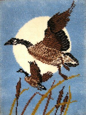 "Moon Geese Latch Hook Kit Rug Making Kit 24x32""  MCG Textiles No Tool Included"
