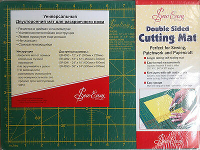 Sew Easy Double Sided Cutting Mat For Sewing, Patchwork & Papercraft.