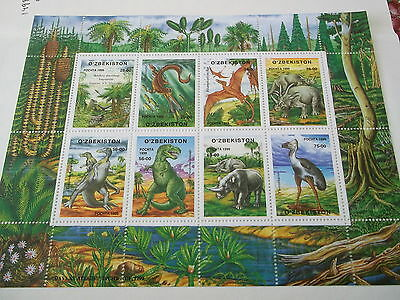 1999 Uzbekistan Prehistoric Animals sheet unmounted mint sc232/9
