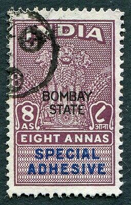 INDIA Bombay State 8a SPECIAL ADHESIVE Revenue/Fiscal #W14