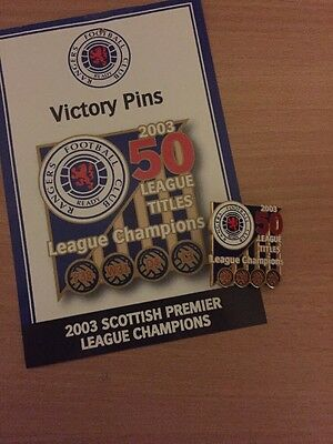 Glasgow Rangers Victory Pin Badge 2003 50 League Titles Champions