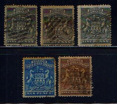 RHODESIA  BRITISH  SOUTH  AFRICA  COMPANY  COLLECTION.  L67b