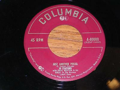 JO STAFFORD - Just Another Polka - Columbia 4-40000 - USA - 1953