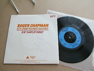 Roger Chapman - Let's Spend The Night Together. 1979 Acrobat Pic Sleeve 45