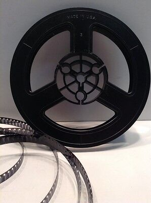 "Vintage Black 8mm 5"" 200ft. Plastic Film Reel #2"