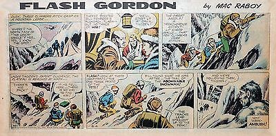 Flash Gordon by Mac Raboy - lot of 12 color Sunday comic pages - middle 1963