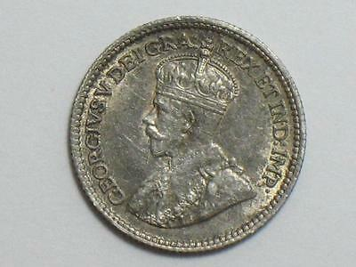1912 Canada 5 Cents - Silver Foreign World Coin - Canadian Fishscale