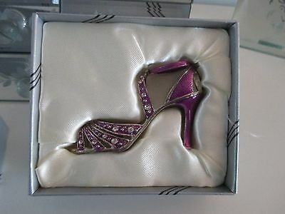 small ornamental shoe - If the shoe fits - purple - New - Boxed