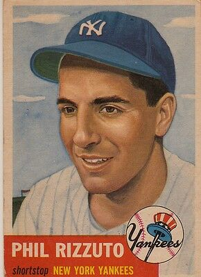 Topps 1953 #114 Phil Rizzuto-Hall of Famer-New York Yankees