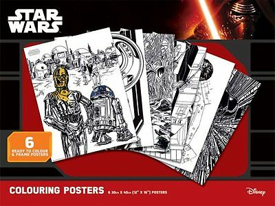 Star Wars Colouring Posters - New 6 X Star Wars Colouring Poster Pack Pcp0066