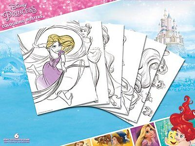 Disney Princess Colouring Posters - New Disney 6 Colouring Poster Pack Pcp0069