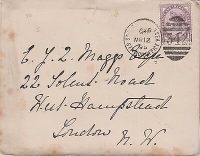 1895 QV COVER WITH 1d STAMP TO E MAGGS IN WEST HAMPSTEAD LONDON