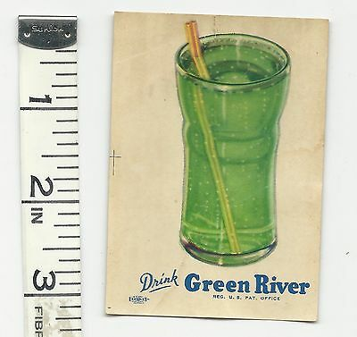 Vintage Green River Soda decal