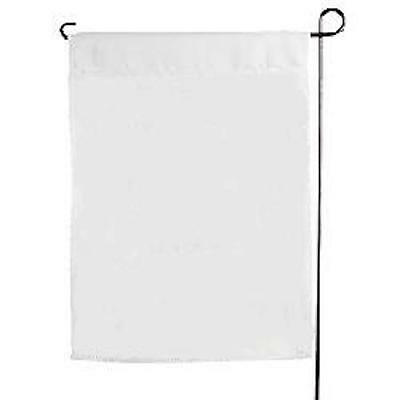 "10 -  blank polyester Garden Flags 11"" x 15"" painting Embroidery vinyl WHITE"
