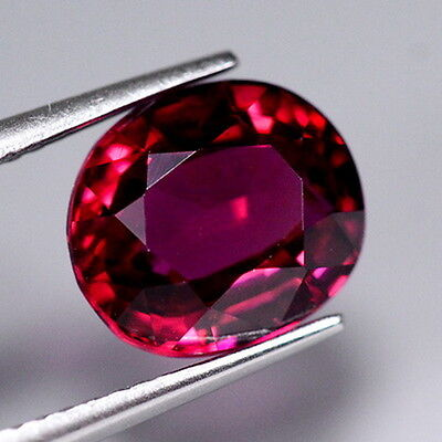 VVS HIGH QUALITY 3.80ct NATURAL100% UNHEATED RED RHODOLITE OVAL FACETTED