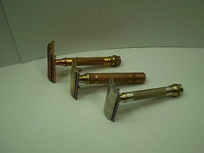 3 Gillette Comb Safety Razors - Made In Canada