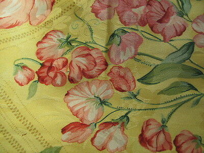 Vintage Braemore Textiles bright yellow floral screen print over 7 yards