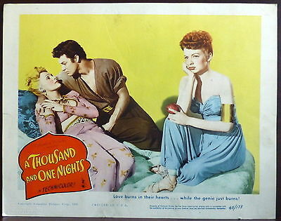 Adele Jergens LOT 2 ORIGINAL 1940s Lobby Cards A Thousand and One Nights