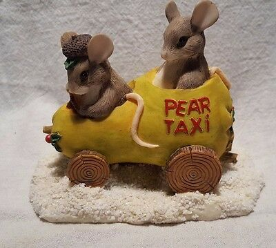Pear Taxi ~ Charming Tails ~ 87/565 (Fitz & Floyd Collectible)