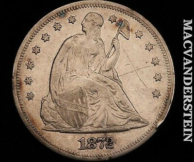 1872 Seated Liberty Dollar- Vf+/extra Fine  !! #h2886