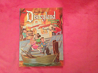 1968 WALT DISNEY'S DISNEYLAND Coloring Book by WHITMAN. Made in USA
