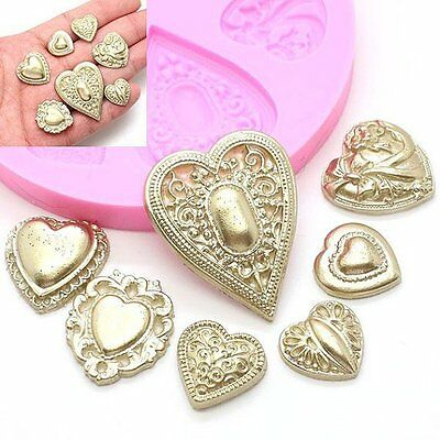 Brooch Heart Angel Queen Silicone Cake Molds Cookies Chocolate Mould Baking Tool