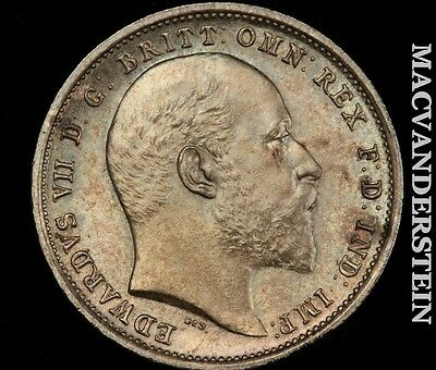 1902 Maundy 4 Pence- Super Gem Brilliant Uncirculated !! Color !! #o8354