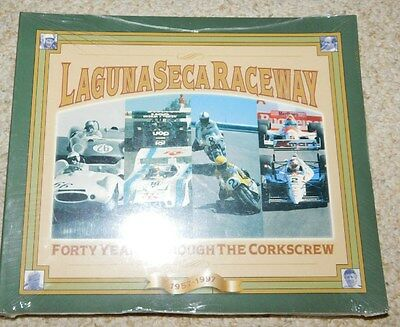 New Old Stock Sealed Laguna Seca Raceway Forty Years Thru The Corkscrew Book