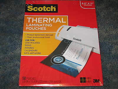 "Scotch Thermal Laminating Pouches 8.5"" x 11"" 50 Pouches TP3854-50"